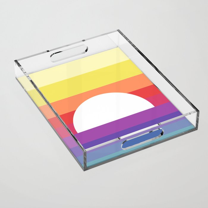 saturday sunset Acrylic Tray