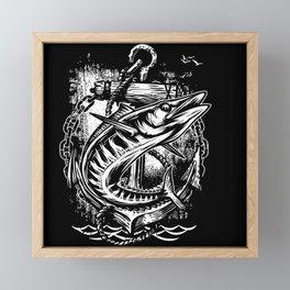 Born To Fish Framed Mini Art Print