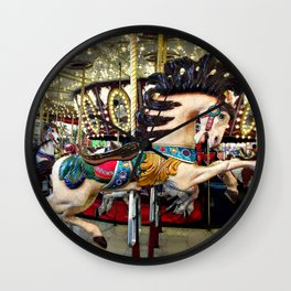 Carousel horse and sparkly lights   Find Your Wild Wall Clock