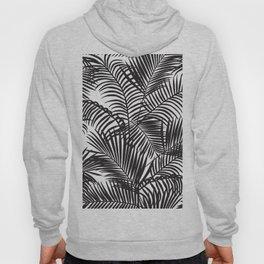 Modern black tropical palm trees pattern Hoody