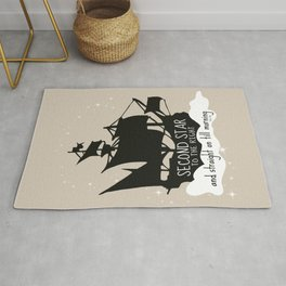 Second star to the right and straight on till morning - Peter Pan Inspired Art Print  Rug