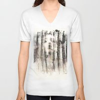 ghost V-neck T-shirts featuring Ghost  by Peter Coleman