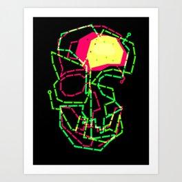 Dark Skull Art Print