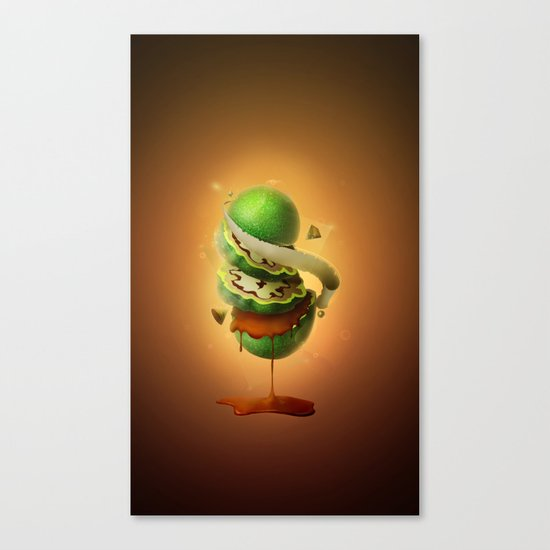 Sliced Green Wallnut Canvas Print