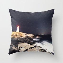 Zodiacal Lighthouse Throw Pillow