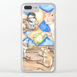Zoe's Tea Party Clear iPhone Case