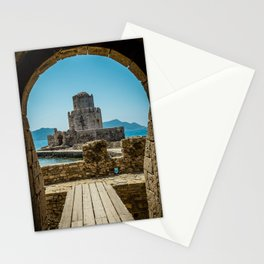 The Methoni Venetian Fortress in the Peloponnese, Messenia, Greece Stationery Cards