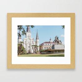 Jackson Square Cathedral Framed Art Print
