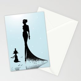 Vive le vent d'hiver Stationery Cards