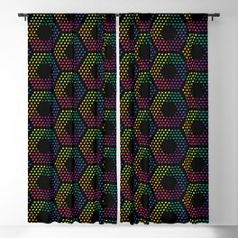 Dotted hexagons pattern Blackout Curtain