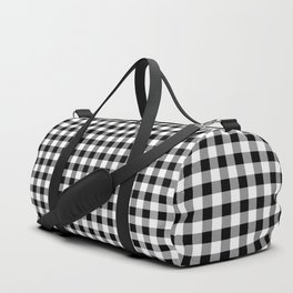 Classic Black and White Western Cowboy Buffalo Check Duffle Bag