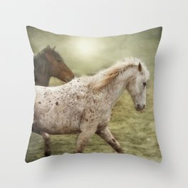 Chuck And Red Fog Study Throw Pillow