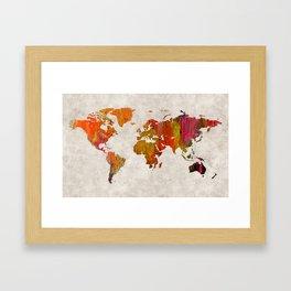 World Map 57 Framed Art Print
