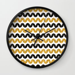 1960s Style Dot Stripes Wall Clock