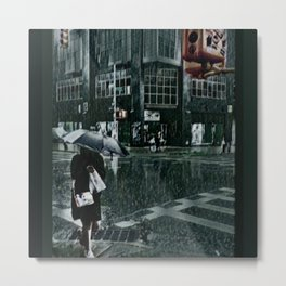 Asterisk/Right Arrow/Rainfall Metal Print