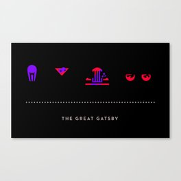 The Great Gatsby, Four Icon Challenge Canvas Print