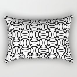 Modern Oval Black and White Rectangular Pillow