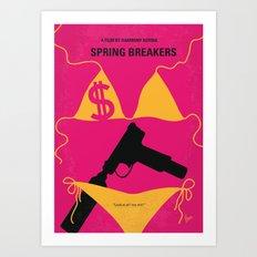 No218 My SPRING BREAKERS minimal movie poster Art Print