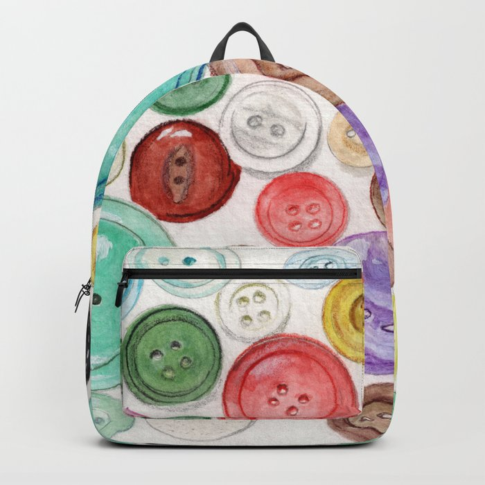 Buttons! Backpack by anniemason