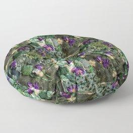 Violets in my head Floor Pillow