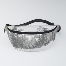 Sledding // Snowday Winter Sled Hill Black and White Landscape Photography Ski Vibes Fanny Pack