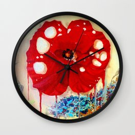 Poppy Painting Wall Clock