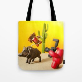 Action Photograph Tote Bag