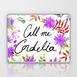 Call Me Cordelia - Purple Flowers Laptop & iPad Skin
