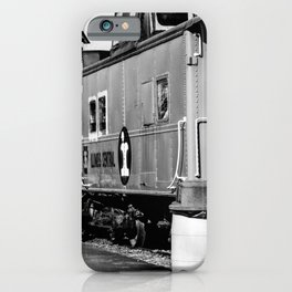 Railroad Cars_BW iPhone Case