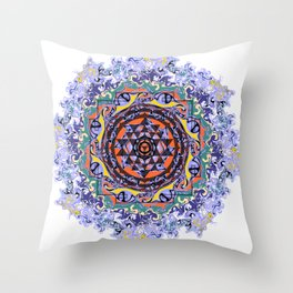 En Force Sri yantra Throw Pillow