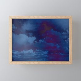 Clouds in a Stormy Blue Midnight Sky Framed Mini Art Print