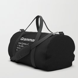 Grammar Definition Duffle Bag