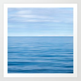 Calm Blue Seas Art Print