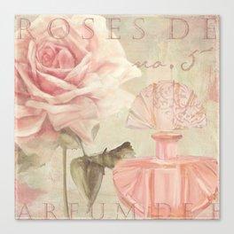 Perfume and Roses I Canvas Print