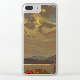 Tom Thomson Hills and Swirling Sky 1915 Canadian Landscape Artist Clear iPhone Case