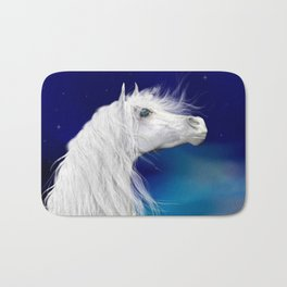 Star Gazer .. fantasy horse Bath Mat