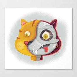 Cyborg cat Canvas Print