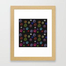 Doodled floral Framed Art Print