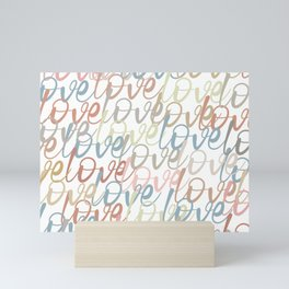 Love, Quote, Happy, Pattern Mini Art Print