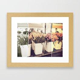 Tulip collage Framed Art Print