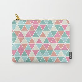 Triangulation (pink and green) Carry-All Pouch
