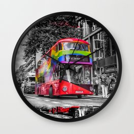 London Red Bus Special Service Wall Clock