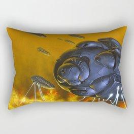 Heavy Bombardment Rectangular Pillow