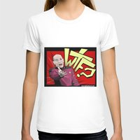 picard T-shirts featuring Wtf Picard by Slightly Absurd