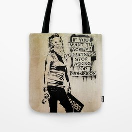 Banksy, Greatness Tote Bag