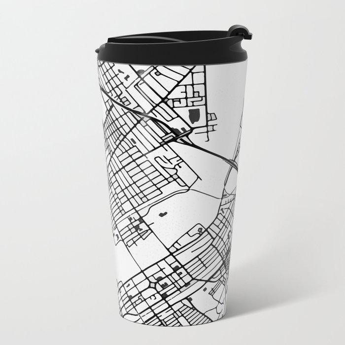 Wilkes-Barre Pennsylvania Map Metal Travel Mug