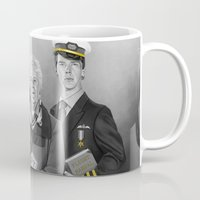 cabin pressure Mugs featuring Cabin Crew by tillieke