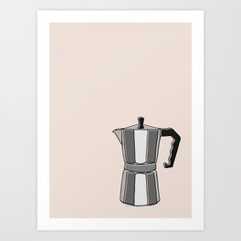 Greca on Beige Art Print