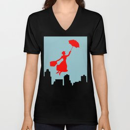 Mary Poppins  Unisex V-Neck