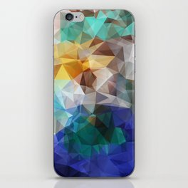 Abstract background of triangles polygon print. Bright design colors iPhone Skin